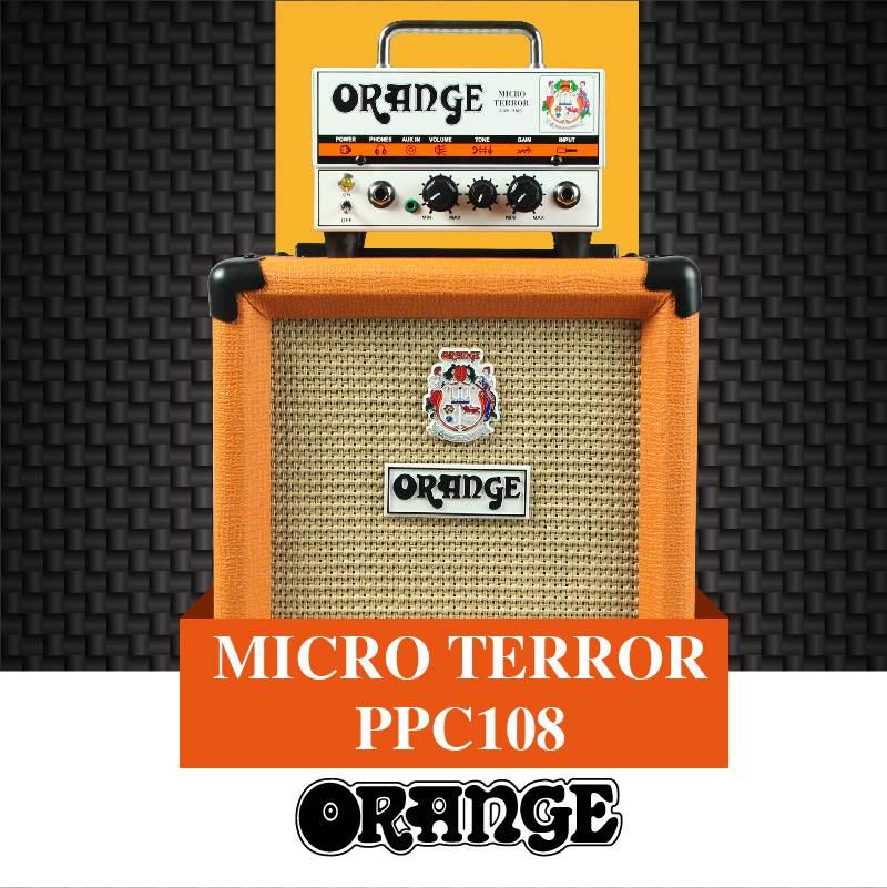 橘子Orange Micro Terror 迷你电子管吉他音箱 + 橘子 Orange PPC108 Cab